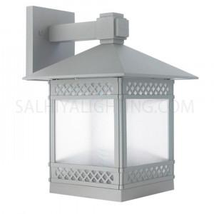 Outdoor Wall Light 8501- E27 Glass Diffuser - Dark Grey