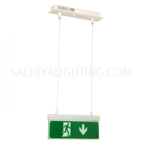 Olympia Emergency Luminar Eco Light Maintained Exit Sign Arrow Down SLD-28/DZ- Green