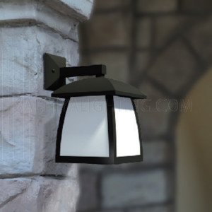 Indoor/Outdoor Wall Light 45 - 11- E27 PC Diffuser - Black