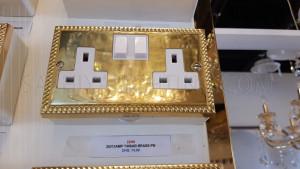 Switch 2G 13Amp T406AB Brass-BP Switch Socket