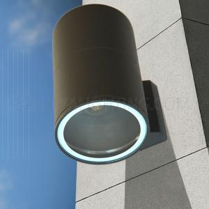 Indoor/Outdoor Up & Down Light 7002 IP54 Temper Glass - Black