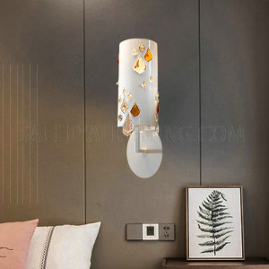 Indoor Wall Light Steel Sconce-MB1100361-1AWN-1XE14- White