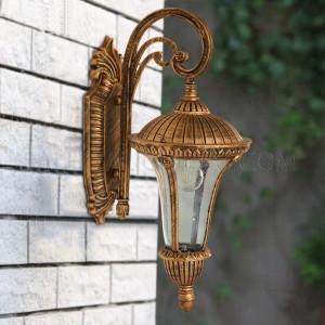 Outdoor Wall Light   A206 -12 - Black Gold