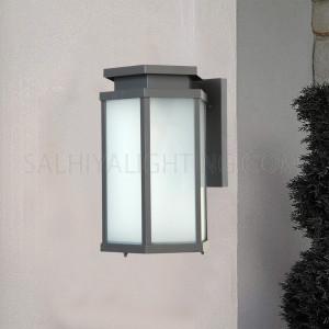 Outdoor Wall Light 16 - 51A Glass Diffuser - Dark Grey