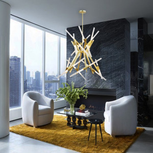 Modern 24 Branches Stylish Hanging Light MD21362 - Bronze