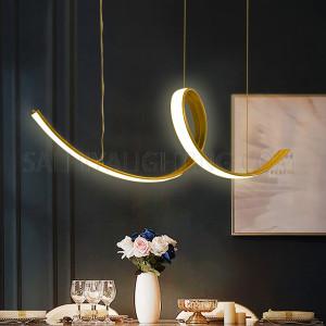 Modern Estepanya Crystal Hanging Light- Bronze