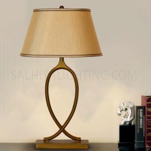 Table Lamp 07-1  Antique Bronze - Brass / Beige