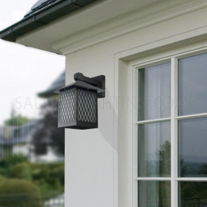 Indoor/Outdoor Wall Light 143 - 301-E27 Glass Diffuser- Brown