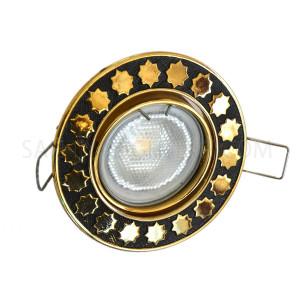 Spot Light Movable Round 0781G/09-0818 - Gold/Black
