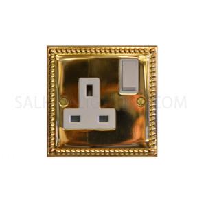 Switch Socket 1Gang 13Amp T405AB - Brass