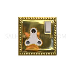 Switch Socket 1Gang 15Amp T429AB - Brass