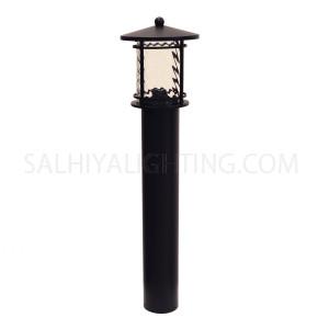 Garden Light Post 1827A E27 Water Glass Diffuser - Black