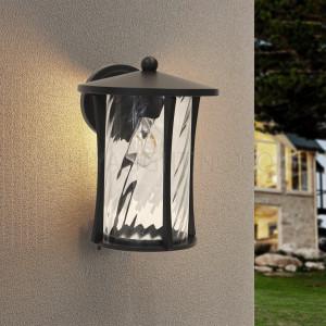 Outdoor Wall Light 1711 Frosted Rotating Glass Diffuser - Matt Black