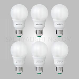 Megaman GSU218I Energy Saving 18W CFL Classic Bulb Warm White - 6 Pcs