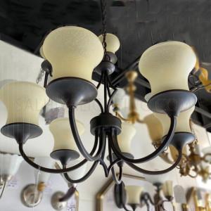 Uplight Chandelier Hanging light HLH-21653/6Arms - Brass