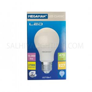 Megaman LED Classic Bulb E27 LG7106v1 6W 2700K -Warm White
