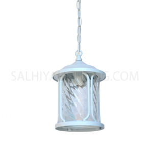 Outdoor Hanging Light 1805 Water Glass Diffuser - White