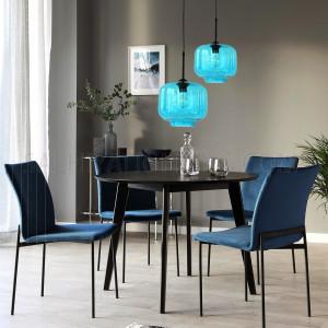 Indoor Glass Pendant Light D130341 - Blue