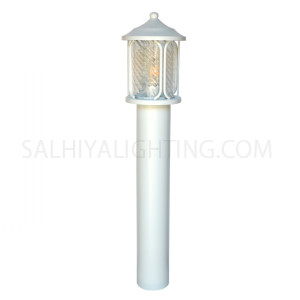 Garden Light Post 1804 E27 Water Glass Diffuser - White