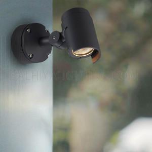 Wall Mounted Spot Light 20W IP65 3000K - Black