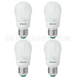 Megaman Energy Saving  9W Classic Bulb Warm White - 4 Pcs