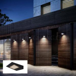 Solar Panel Wall Light H6041 2.2W Warm White- Graphite