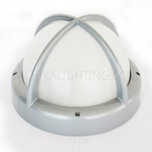 Indoor / Outdoor Bulkhead Light / Wall Light P-832 - Silver
