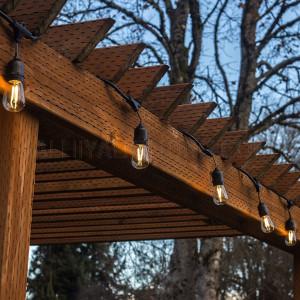 10M Belt Lights / Festoon Lights Amber - E27 Bulb