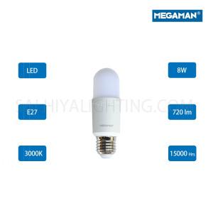 Megaman LED Classic Bulb E27  8W 3000K -Warm White