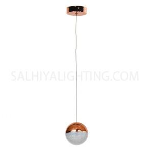 Modern Stylish 1Ball Hanging LED Light MD14003057 - Rose Gold