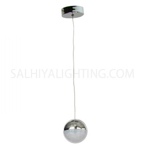 Modern Stylish 1Ball Hanging LED Light MD14003057 - Chrome