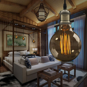 Indoor Veronica Suspension Pendant Retro Style Metal Hanging Light - Ching Copper