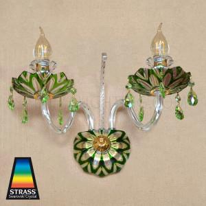 Strass Swarovski Crystal  Indoor Wall Sconce Glass YD-601 - Green