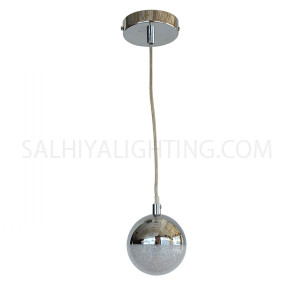 Modern Stylish 1Ball Hanging LED Light MD14003057-1A - Chrome