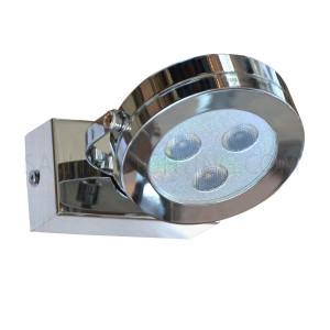 LED Mirror Light / Picture Light Steel 1 x 3W Daylight  - Silver