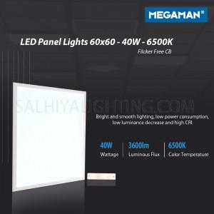 Megaman Back-lite LED Panel Light 60 x 60 Flicker Free CB 40W 6500K - Daylight