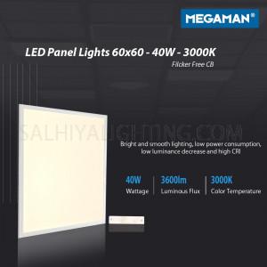 Megaman Back-lite LED Panel Light 60 x 60 Flicker Free CB 40W 3000K - WarmWhite