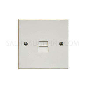 Telephone Secondary Socket 1Gang LJ3/6A  - White