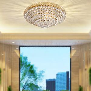Indoor Crystal Ceiling Light D80 948 - Gold