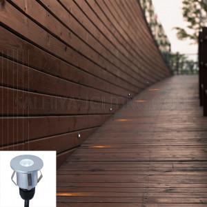 Inground Light  2101 LED 1WCREE  IP65  - Silver