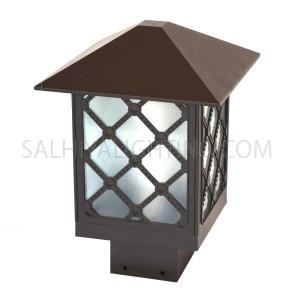 Gate Top Light 88 - 02 - E27 Glass Diffuser- Brown