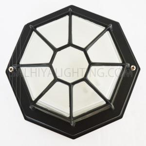 Indoor / Outdoor Bulkhead Light / Wall Light P-822 - Black