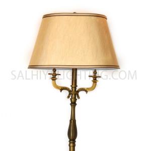 Floor Lamp 050-50 Antique Bronze - Brass / Beige