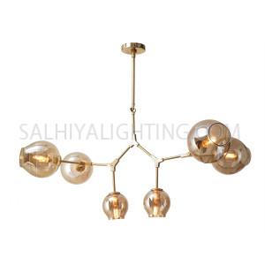 Modern Blair 6 Buds Pendant Light MD10730  - Gold Matt