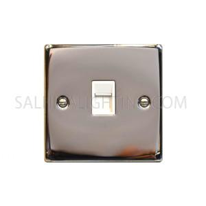 Telephone Socket 1Gang T442EB - Chrome