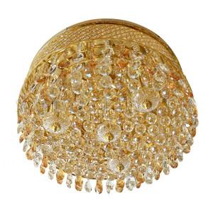 Indoor Crystal Ceiling Light D70 KJ-602001B/5C - Gold