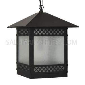 Outdoor Hanging Light  7505 - E27 Glass Diffuser- Dark Grey