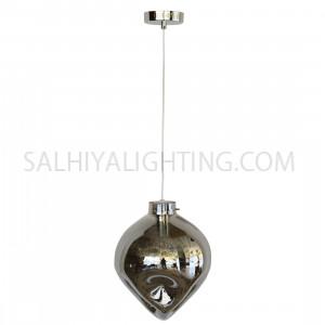 Indoor Evelyn Glass Pendant Light D1831 - Chrome/Smoky