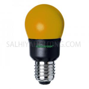 Megaman E27 CFL Yellow Bulb Energy Saving GA607YL 7W - 4 Pcs