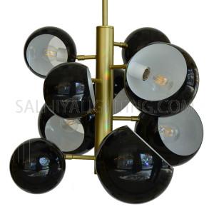 Modern Stylish Pendant Light D68 - Black